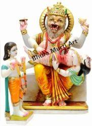Sangemarmar Marble Narsingh Bhagwan Statue