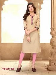 Fancy Stylist Cotton Embroidered Kurti