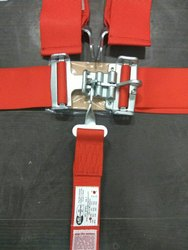 Red Sfi 16.1 Latch And Link Type 5 Point Racing Harness