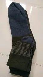 Cotton Balnd Malticolor Mans Socks, Size: Free