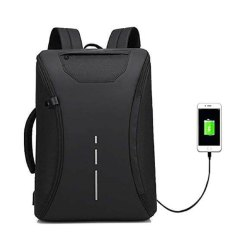 Anti Theft 360 Degree Open Backpack Briefcase with USB Charging Port