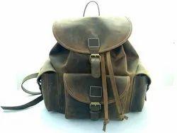 Vintage Leather Rucksack Backpack