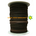 Dark Brown Flat Square Leather Laces- 3mm By 3mm LEATHER CORD