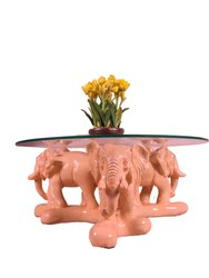 Center Table with 3-Pair Elephant
