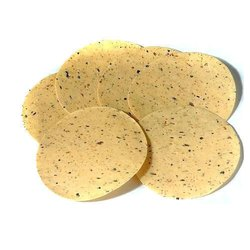 Round Salty Jeera Rice Papad, Packaging Size: 1 Kg