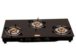 Bella automatic Gas Saving Glass Top 3 Burners Gas Stove