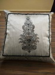 Designer Cushion Cover Silk Embroidery