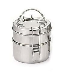 Silver Stainless Steel Lunch Carrier, For School And Office, Material Grade: 202