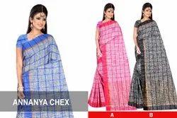 6 m (with blouse piece) Festive Wear Khadi Cotton saree