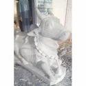 White Marble Nandi Statue