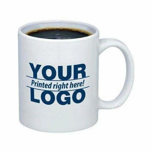 ceramic white printed coffee mug shape round rs 63 piece id