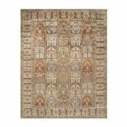 Printed Decorative Kashmiri Silk Carpet, Shape: Rectangular