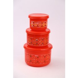 Alfa 3 Pcs Plastics Container Set