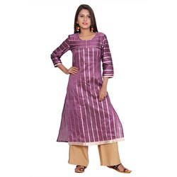 Pink And Brown Designer Kurti