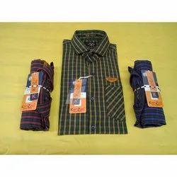 Kanzzo Men Cotton Check Shirt, Size: S-4xl