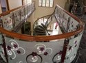 Wooden Baluster Spiral Glass Handrail
