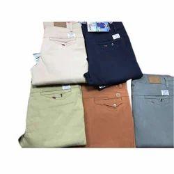 Mens Cotton Plain Trousers
