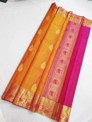Pure Silk Saree, 6.3 m (with blouse piece)
