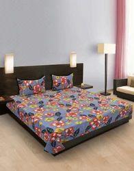Flower Printed Cotton Bedsheet