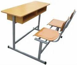 Brown Wooden Desk For School.