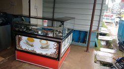 L Shape Coffee Display Counter
