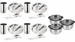 Stainless Steel Designer Serving Casserole Set Diwali Gifting/Corporate Gifting