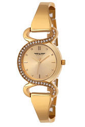 Formal Wear Ladies Golden Watch