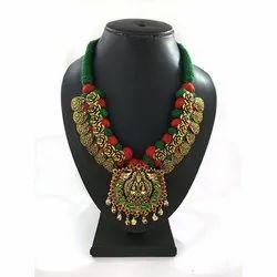 Meenakari Kolhapuri Heavy Pendent Necklace