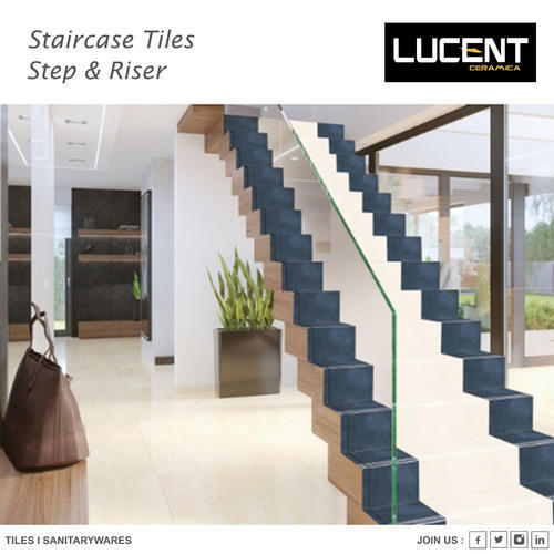 Ceramic, Porcelain Stair Tiles, Size: Small, Medium, Large