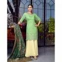 Light Green Designer Party Wear Lakhnavi Sharara Suit