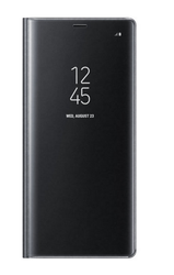 Black Galaxy Note8 Clear View Standing Cover