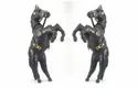 Leather Wrapped Jumping Horse Set of 2