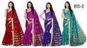 Multicolour Banarasi Silk Sarees With Zari Border
