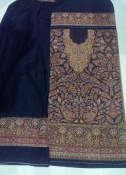 Party Wear Cotton Unstitched Embroidered Suit