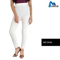 Ladies white plain leggings
