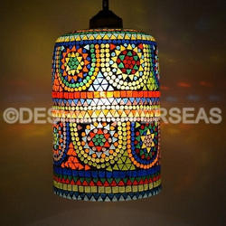 Mosaic Hanging Decorative Lamp