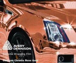 Car Wrap Vinyl Roll ROSE GOLD CHROME