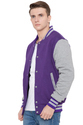Purple Grey  Fleece Varsity Varsity - Men