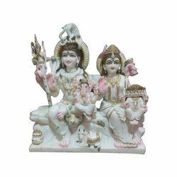 Marble Shiva Parivar Statue