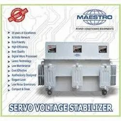 Air Cooled And Oil Cooled Three Phase Maestro Servo Voltage Stabilizer, Capacity: 15 Kva To 500 Kva, 300 Volts To 470 Volts
