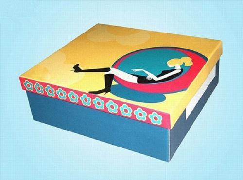 Multicolor Printed Shoe Boxes