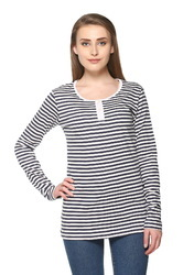 Trendy Full Sleeve Striped Women Top