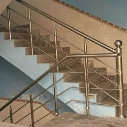 Stainless Steel Powder Coated SS304 Stair Railing, For Home