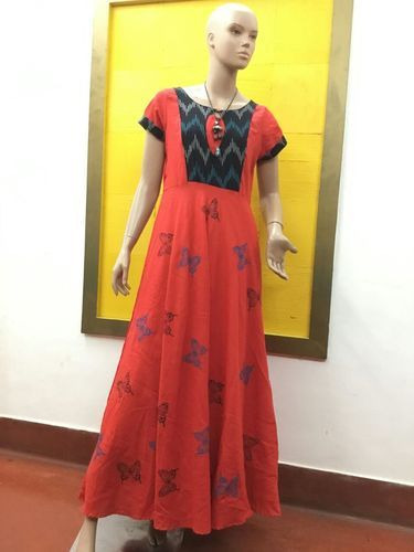 9dffc507c4a Red Semi Casual Ladies Long Frock
