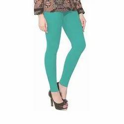 Straight Fit Plain Casual Wear Ladies Cotton Legging, Size: S-XXL