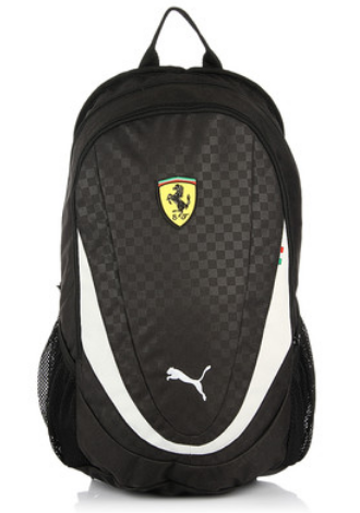 Female Puma Black Ferrari Replica Backpack  bb8fab4ca512f