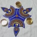 Acrylic Diya Rangoli
