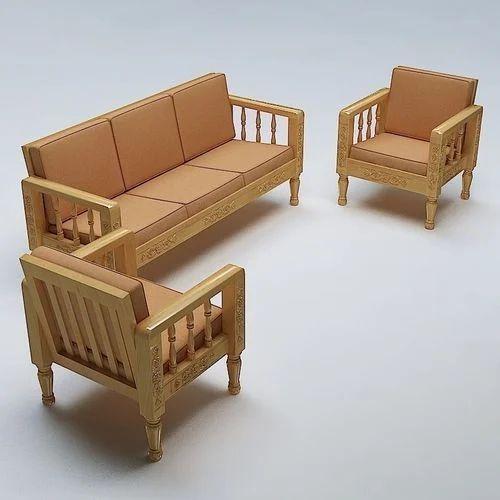 Sofa Sets Furniture: LightBrown Wooden Sofa, Rs 14000 /set, Dream Furniture