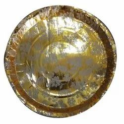 Disposal Golden Paper Plate
