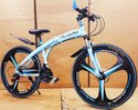 Carbon Steel Edge Sky Blue Mercedes Benz Folding Cycle